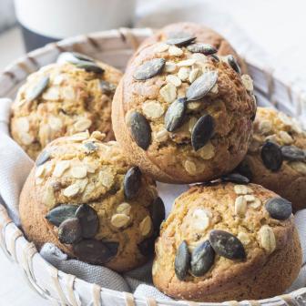 Muffins con zucca e lenticchie